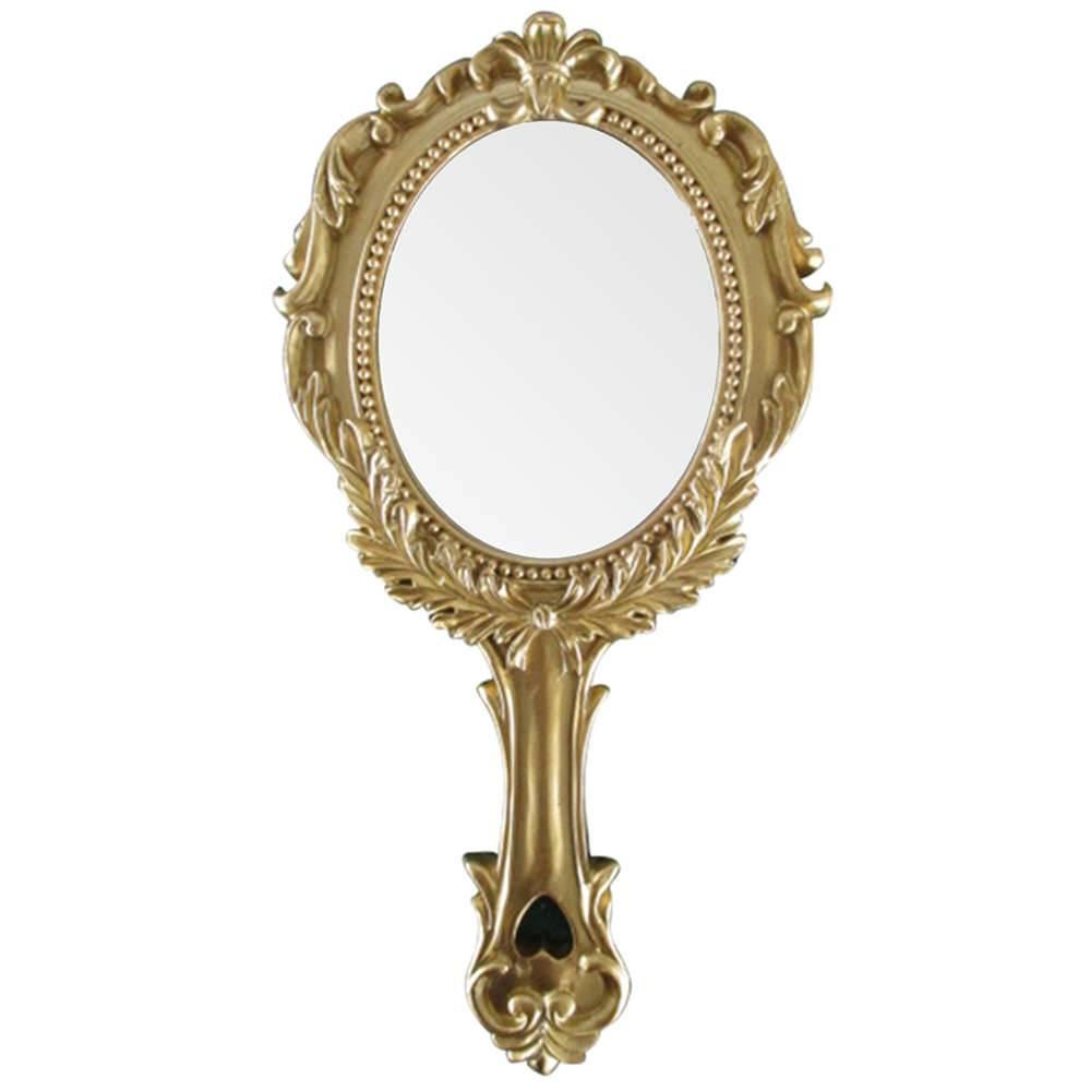 Espelho Rome Style Dourado em Resina - Urban - 25x12,5 cm