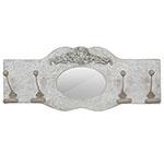 Espelho Trabalhado 4 Ganchos Branco Provence Oldway