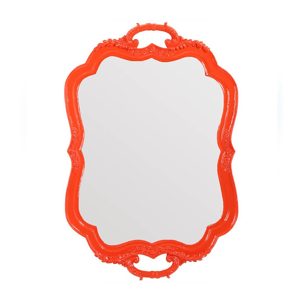 Espelho Tray Laranja em Resina - Urban - 46x31,2 cm