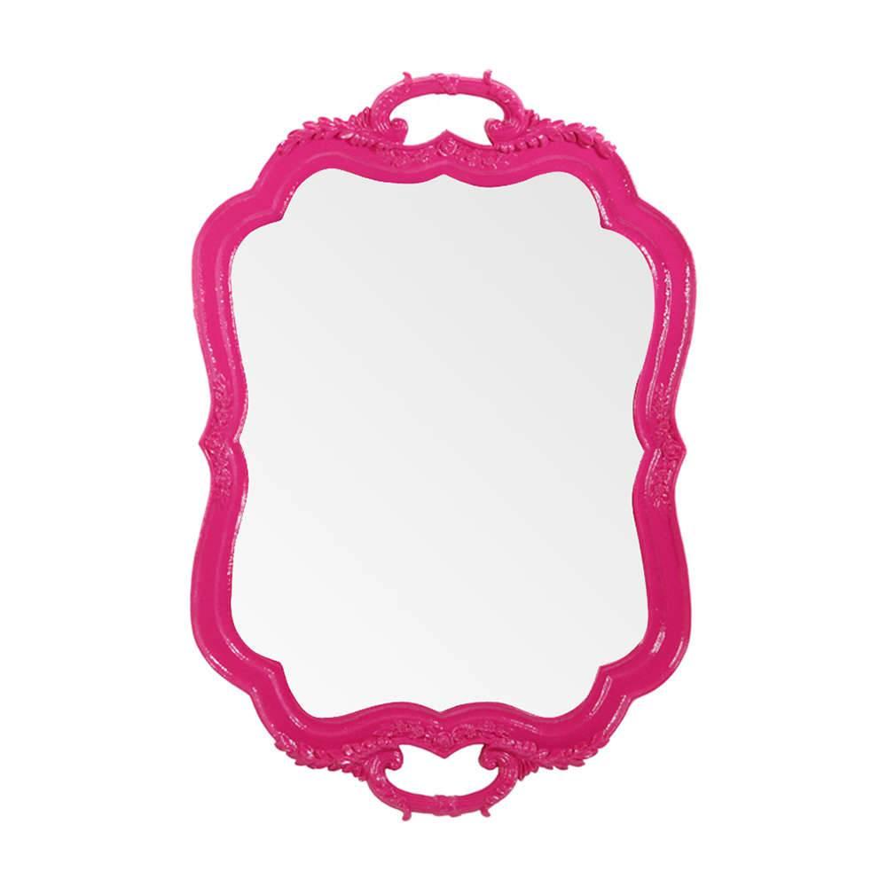 Espelho Tray Pink em Resina - Urban - 46x31,2 cm
