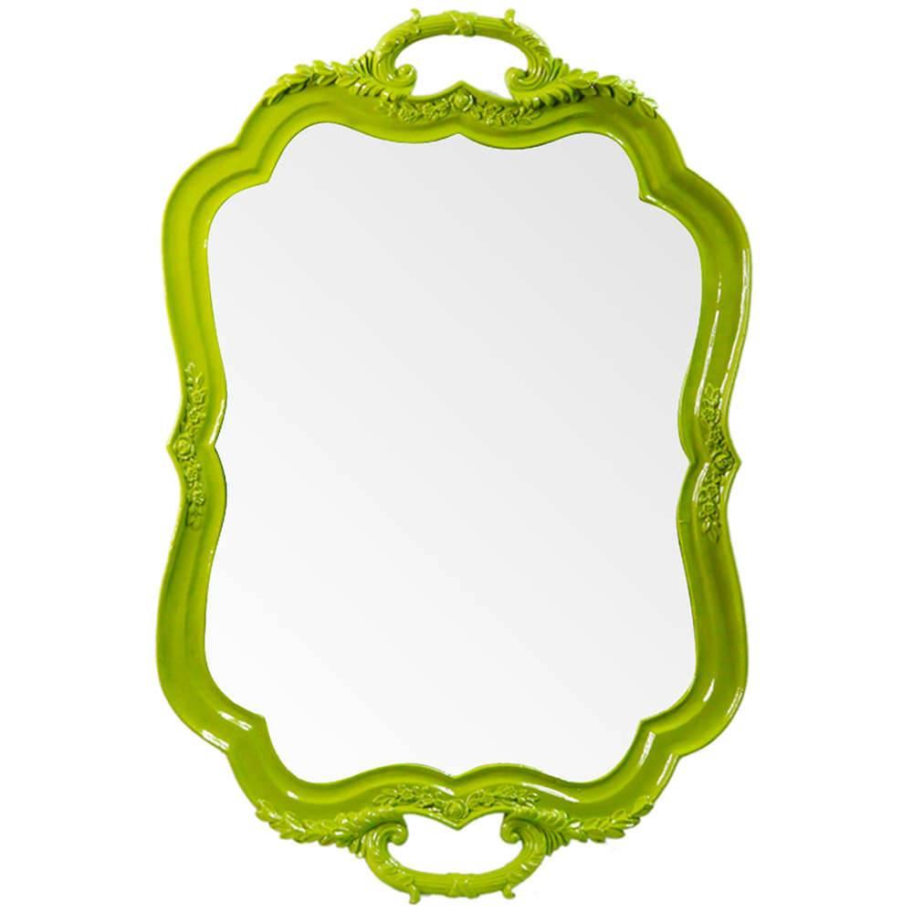 Espelho Tray Verde em Resina - Urban - 46x31,2 cm