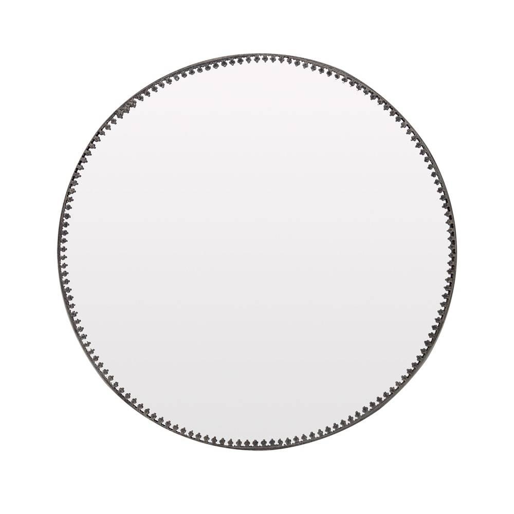 Espelho Trivet Prata Envelhecido em Latão - 26x26 cm
