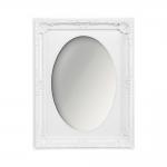 Espelho Vitalle Oval com Moldura Retangular Branco - 28x23 cm