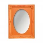 Espelho Vitalle Oval com Moldura Retangular Laranja - 23x17,5 cm