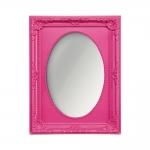 Espelho Vitalle Oval com Moldura Retangular Rosa - 23x17 cm