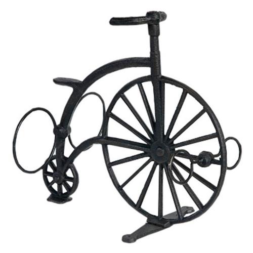 Estante Adega Bicicleta Para 2 Garrafas em Metal - 29x28 cm