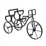 Estante Adega Bicicleta - 4 Garrafas - em Metal - 54x35,5 cm