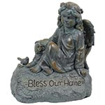 Estatua Anjo Bless Your Home Greenway - 47x41 cm