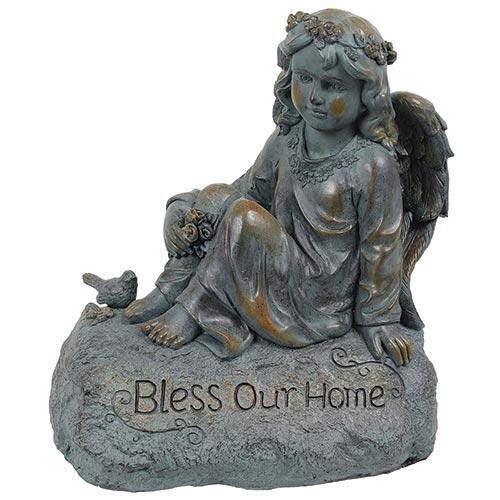 Estatua Anjo Bless Your Home Greenway - 47x41 cm