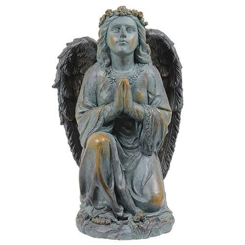 Estátua Anjo em Pé Orando Greenway - 64x30cm