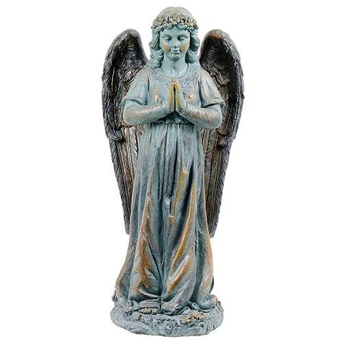 Estátua Anjo em Pé Orando Greenway - 90x31x42cm