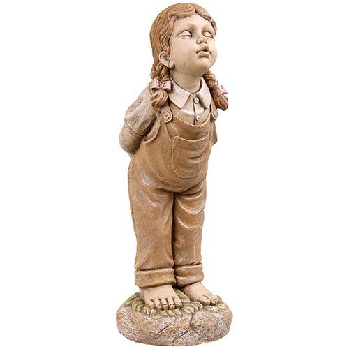Estátua Beijo Menina Greenway - 88x35x35cm