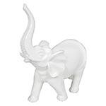Estatua Branca Elefante Grande Fullway