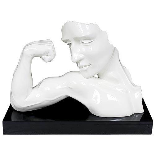 Estatua Branca Força Fullway - 58x44 cm