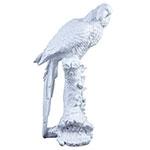 Estátua Cacatua  I Pantone White em Resina - 25x23 cm