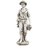 Estátua Camponês com Cesto Greenway - 120x36x41cm