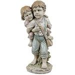 Estatua Crianças Garupa Greenway - 94x38x40cm