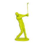 Estátua Golfista Amarelo Fullway - 47x19 cm