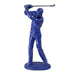 Estátua Golfista Azul Fullway - 38x17 cm