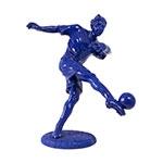 Estátua Jogador de Futebol Azul Fullway - 30x28 cm