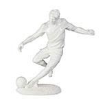 Estátua Jogador de Futebol Branco Fullway - 30x28 cm