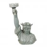 Estatueta Estátua da Liberdade Branco Gelo em Cerâmica - 43x24 cm
