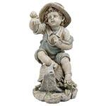 Estatua Menina com Caramujo Greenway - 58x36 cm