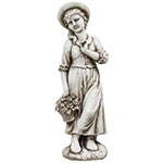 Estátua Menina com Cesto Greenway - 99x28x31cm