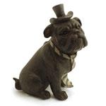 Miniatura Cachorro Bulldog Gravata