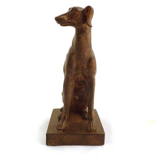 Estátua / Miniatura Cachorro com Plataforma -  Em Resina - 23x12cm
