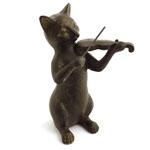 Estátua / Miniatura Gato Violinista
