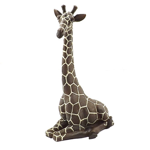 Estátua / Miniatura Girafa - Em Gesso - 7x15 cm