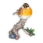 Estátua Pássaro Marrom no Galho Greenway - 15x12 cm