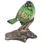 Estátua de Pássaro Verde no Galho Médio Greenway - 13x10 cm
