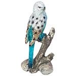 Estátua de Periquito Azul no Galho Pequeno Greenway - 18x9 cm