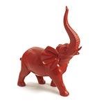 Estatua Vermelha Elefante Médio Fullway