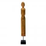 Estatueta Africana em Madeira - 84x10 cm