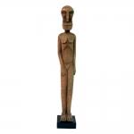Estatueta Africano de Pé em Madeira - 64,5x10 cm