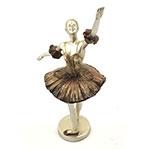 Bailarina Dourada 1 Braço Erguido