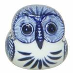 Estatueta Blue Spirit Coruja Azul Pequeno em Porcelana Urban