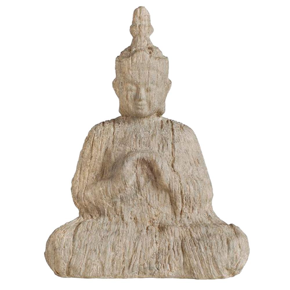 Estatueta Buddha Sentado em Madeira - 43,1x33 cm