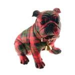Estatueta Bulldog Xadrez em Resina