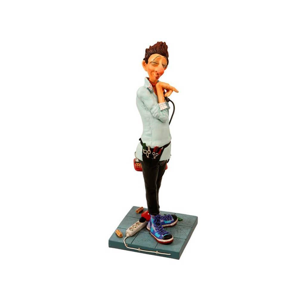 Estatueta O Cabeleireiro em Resina de Guillermo Forchino - 45x18 cm