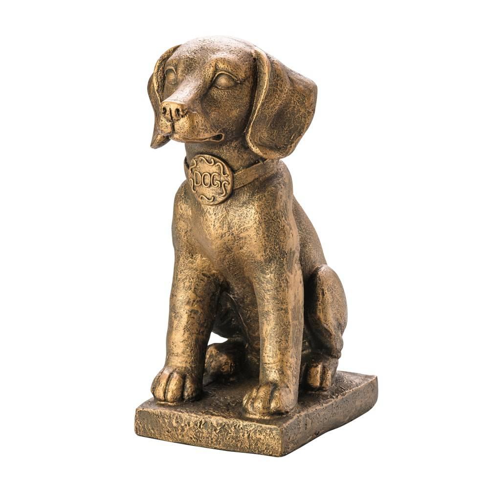 Estatueta Cachorro Bronze em Cerâmica - Lyor Classic - 35,5 cm