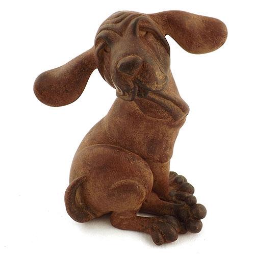 Estatueta Cachorro com Orelhas e Pés Grandes em Resina - 22x16 cm