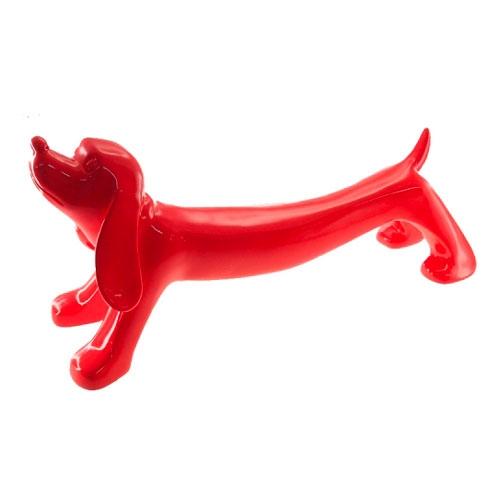 Estatueta Cachorro Salsichinha em Resina - 48x22 cm
