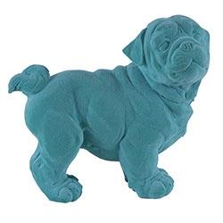 Estatueta Cachorro Turquesa em Resina