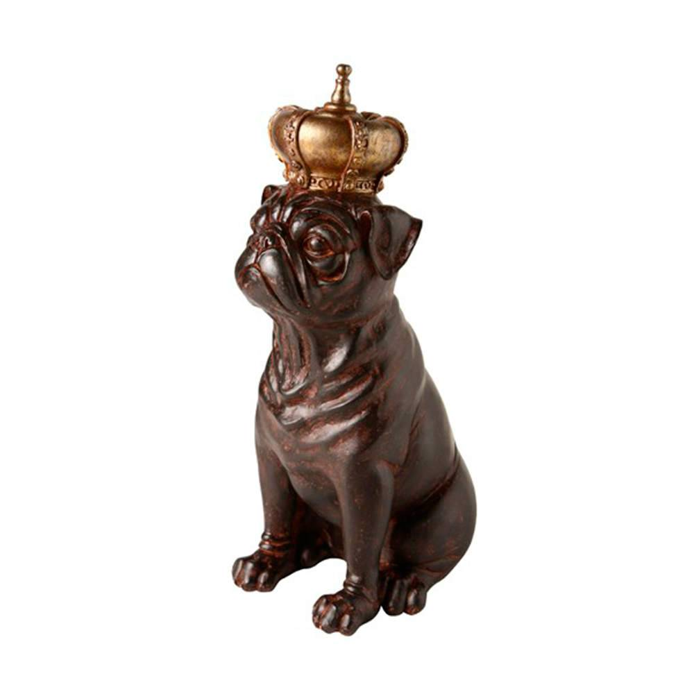 Estatueta Cahorro Rei Grande em Resina - 29x16 cm