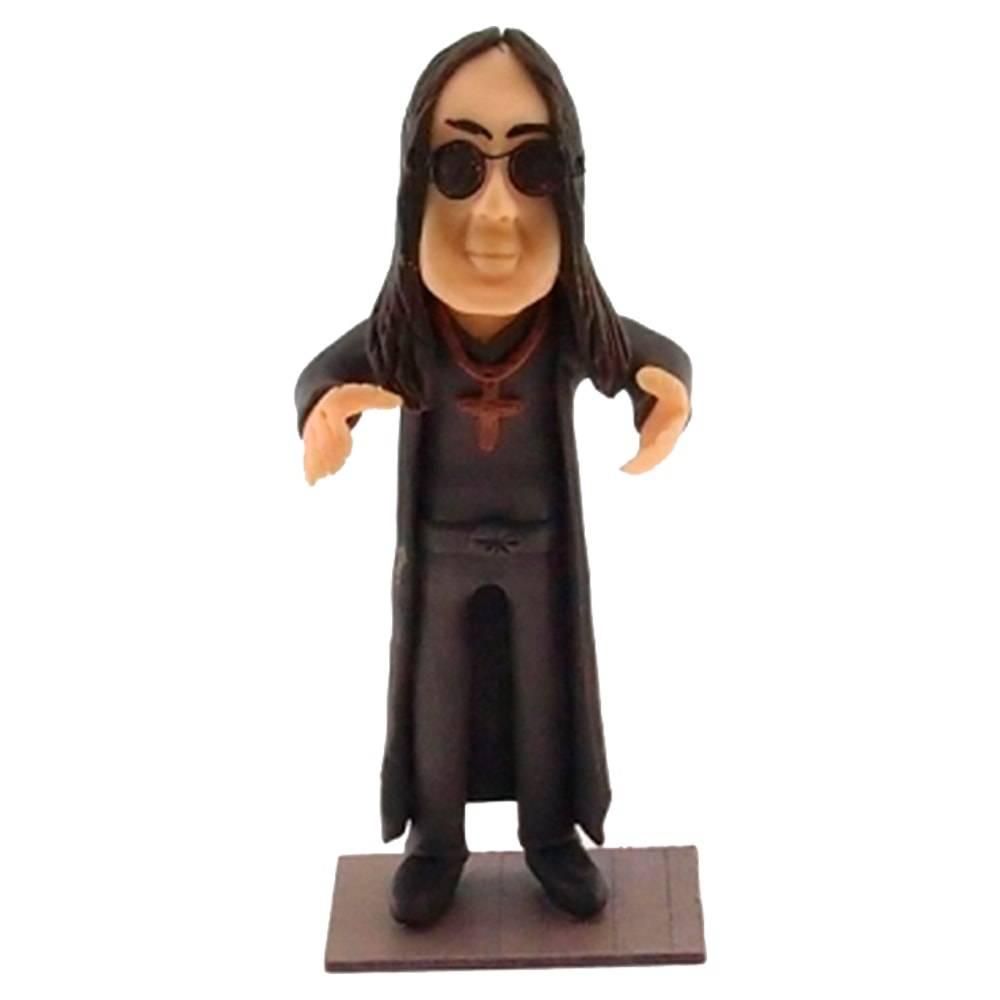 Estatueta Caricatura Ozzy Osbourne em Madeira - 18x8 cm