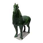 Estatueta Cavalo Suzhou em Cerâmica